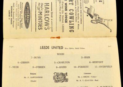 Leicester City v Leeds United 31.08.1957