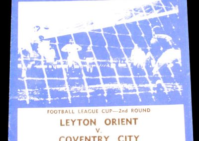 Leyton Orient v Coventry City 22.09.1965 | League Cup 2nd Round