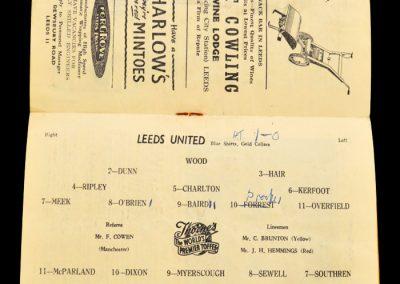 Aston Villa v Leeds United 04.09.1957