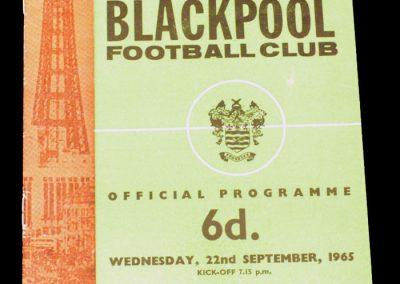 Blackpool v Gillingham 22.09.1965 | Leageu Cup 2nd Round