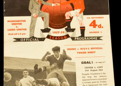 Manchester United v Leeds United 07.09.1957