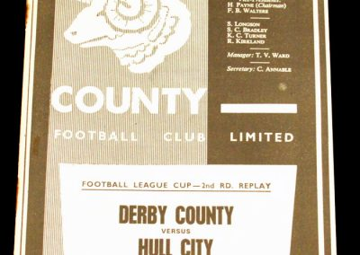 Derby County v Hull City 29.09.1965 | League Cup 2nd Round Replay