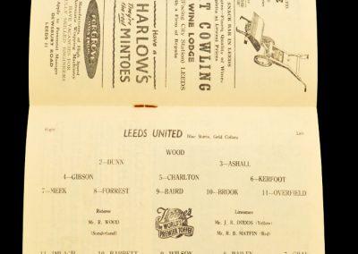 Nottingham Forest v Leeds United 14.09.1957