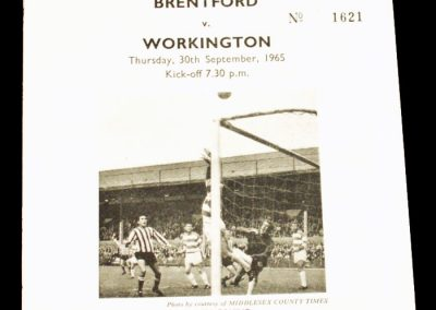 Brentford v Workington 30.09.1965 | League Cup 2nd Round Replay