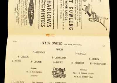 Bolton Wanderers v Leeds United 21.09.1957