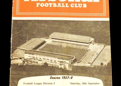 Arsenal v Leeds United 28.09.1957