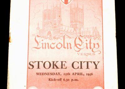 Lincoln City v Stoke City 25.04.1956