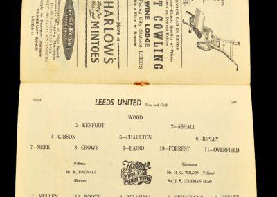 Wolverhampton Wanderers v Leeds United 05.10.1957