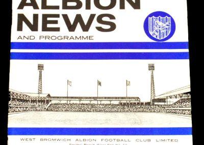 West Bromwich Albion v Aston Villa 17.11.1965 | League Cup 5th Round