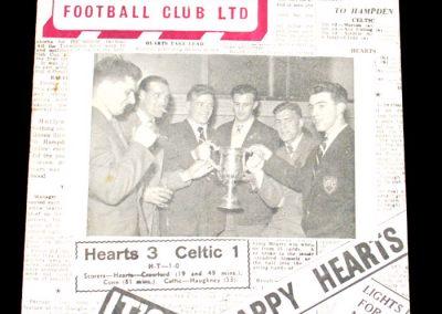 Heart of Midlothian FC v Raith Rovers 28.04.1956