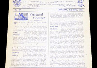 Leyton Orient v Ipswich 03.05.1956