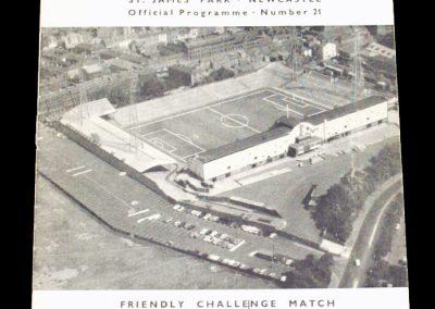 Newcastle United v Moscow Dynamo 22.11.1965