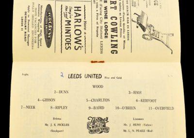 Preston North End v Leeds United 02.11.1957