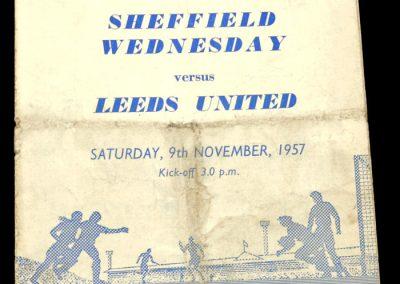 Sheffield Wednesday v Leeds United 09.11.1957