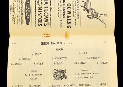 Birmingham City v Leeds United 30.11.1957