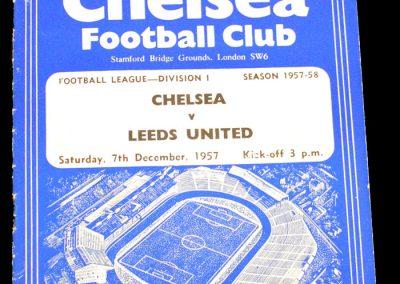 Chelsea v Leeds United 07.12.1957