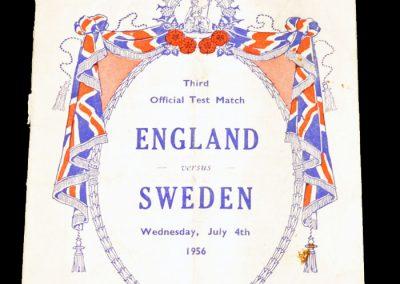England v Sweden 04.07.1956