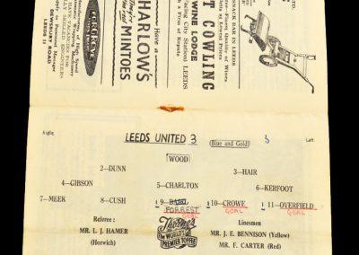 Newcastle United v Leeds United 14.12.1957