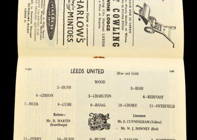 Blackpool v Leeds United 21.12.1957