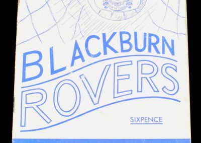 Blackburn Rovers v West Ham 16.02.1966
