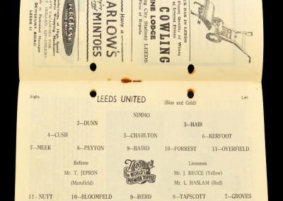 Arsenal v Leeds United 08.02.1958 | Postponed