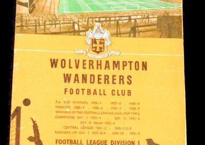 Wolverhampton Wanderers v Leeds United 19.02.1958