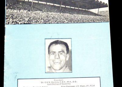 Coventry City v Bolton 02.04.1966