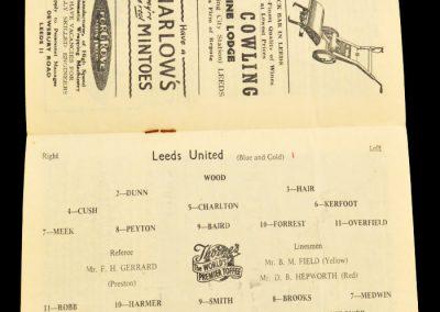 Tottenham Hotspur v Leeds United 08.03.1958