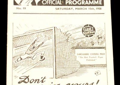 Preston North End v Leeds United 15.03.1958