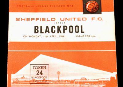 Sheffield United v Blackpool 11.04.1966