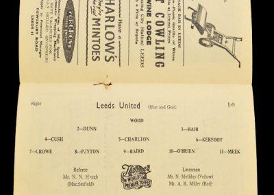 Burnley v Leeds United 22.03.1958