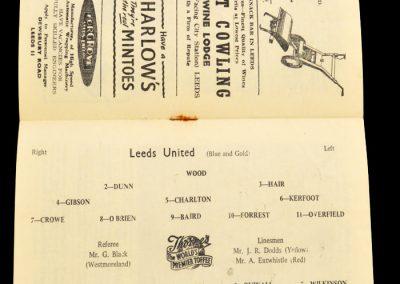 Sheffield Wednesday v Leeds United 05.04.1958