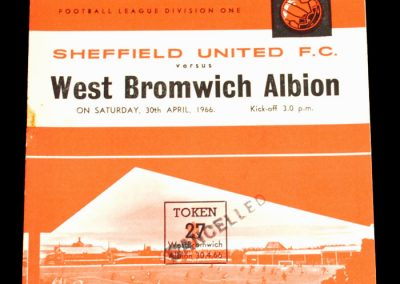 Sheffield United v West Bromwich Albion 30.04.1966