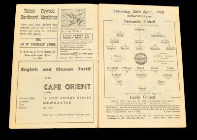 Newcastle United v Leeds United 26.04.1958