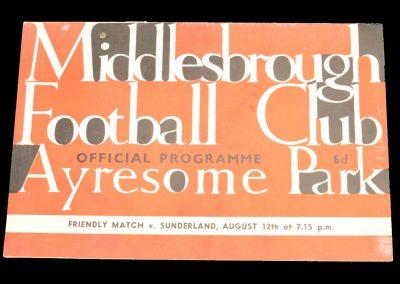 Middlesbrough FC v Sunderland 12.08.1964 | Friendly
