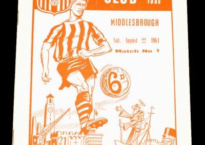 Middlesbrough FC v Southampton 22.08.1964