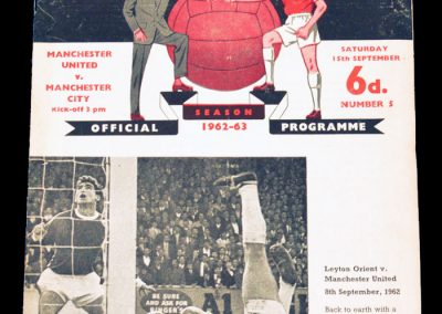 Manchester United v Manchester City 15.09.1962