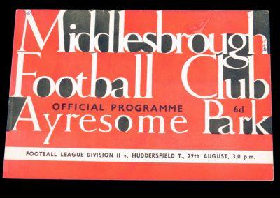 Huddersfield Town v Middlesbrough 29.08.1964
