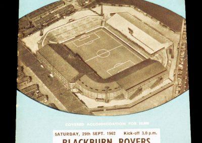 Blackburn Rovers v Manchester City 29.09.1962