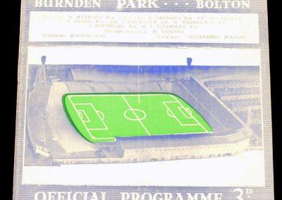 Bolton Wanderers v Middlesbrough 16.09.1964