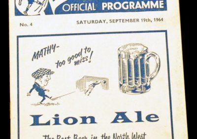 Preston North End v Middlesbrough 19.09.1964