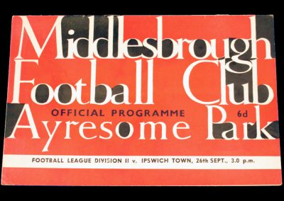 Ipswich Town v Middlesbrough 26.09.1964