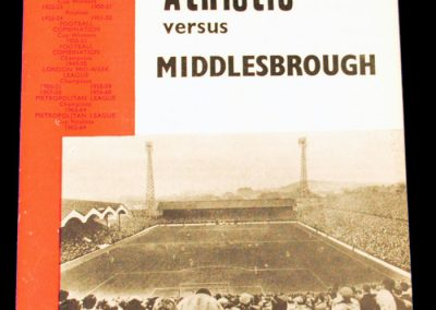 Charlton Athletic v Middlesbrough 06.10.1964