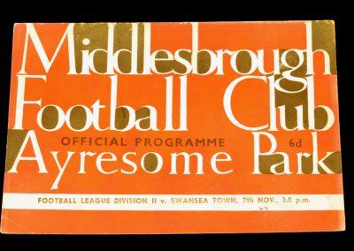 Swansea City v Middlesbrough 07.11.1964