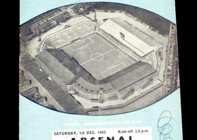 Arsenal v Manchester City 01.12.1962