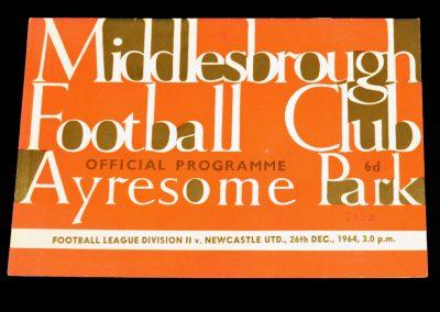 Middlesbrough v Newcastle United 26.12.1964