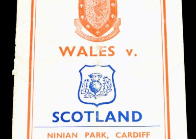 Wales v Scotland 16.10.1954