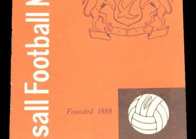 Walsall v Manchester City 06.03.1963 | FA Cup 3rd Round