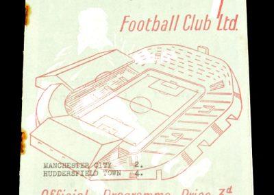 Huddersfield Town v Manchester City 30.10.1954