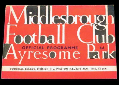 Preston North End v Middlesbrough 23.01.1965